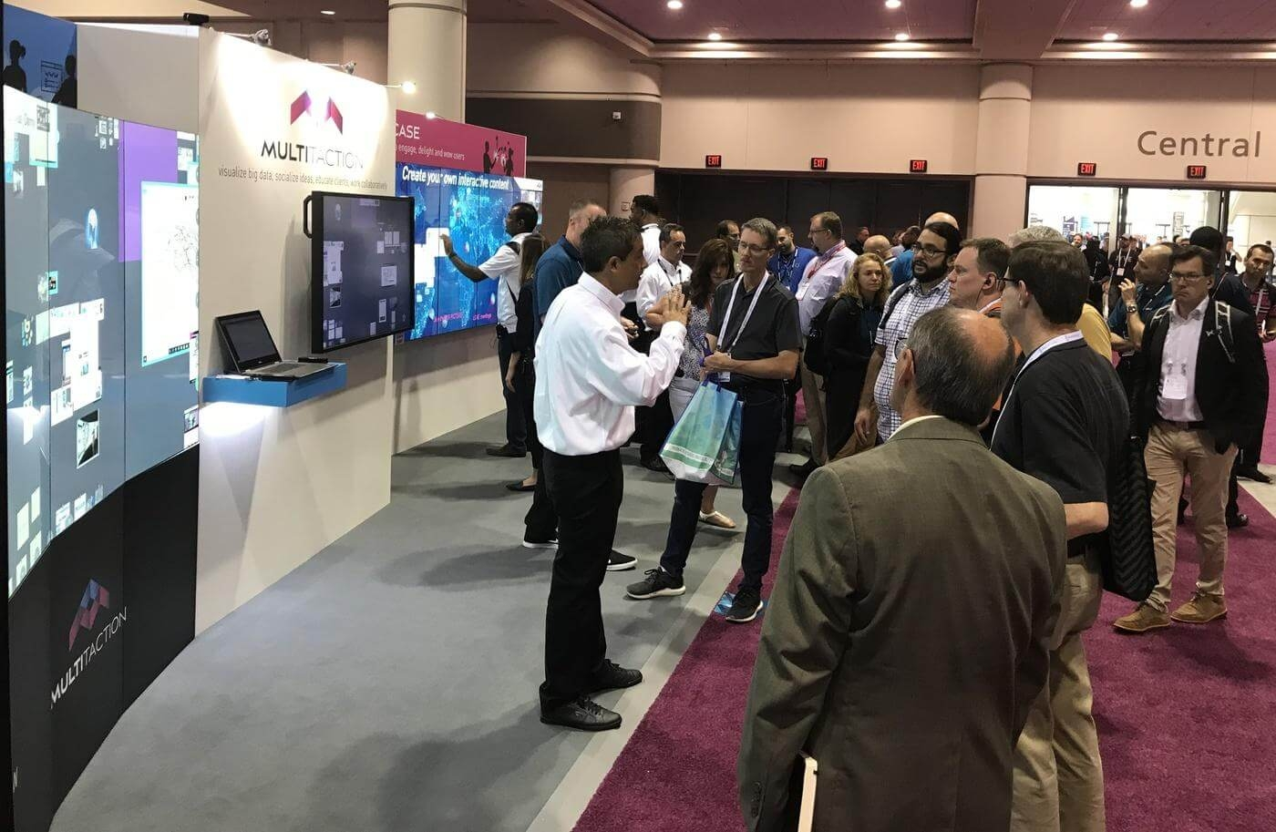 MultiTaction booth at InfoComm 2019