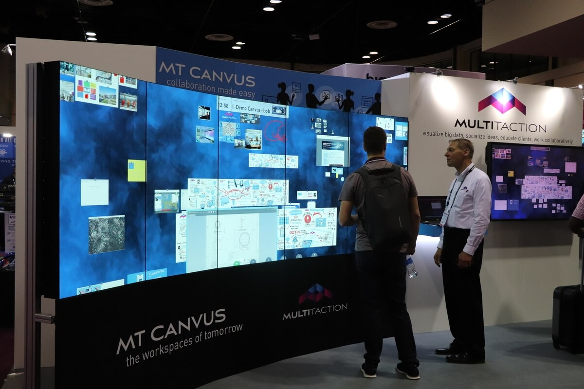 MultiTaction XNB video wall running Canvus collaboration software