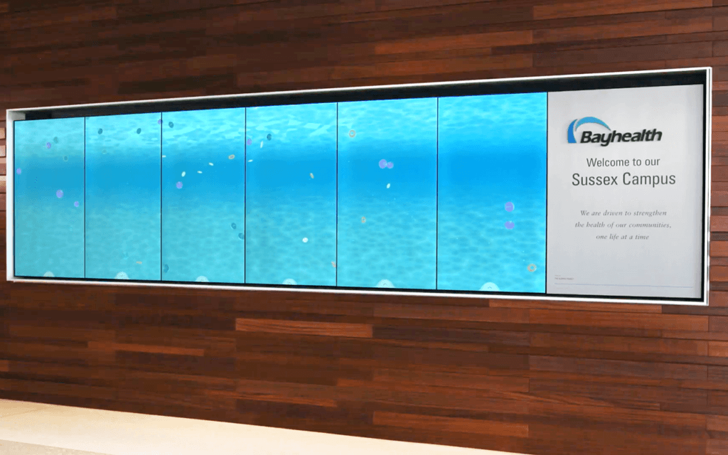 Bay Heatlth interactive wall