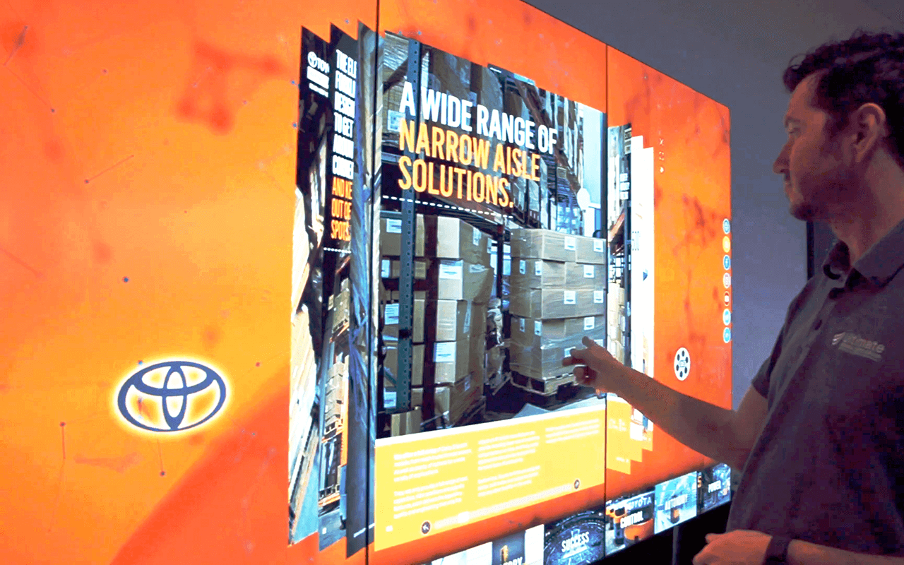 Toyota interactive wall